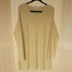 Nordstrom gold sparkle tunic oversized sweater